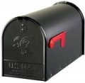 Black US Mail Box Midsize